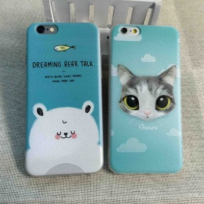 3D Relief Color Painting iPhone Case, Cat, CA026-9 - We Love Apple