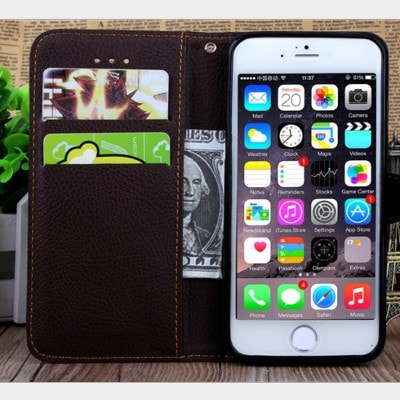 Flip leaf Leather Wallet iPhone case, CA010