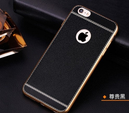 Retro Luxury Ultra-thin Electroplating Gold Edge Frame iPhone case, CA009 - We Love Apple