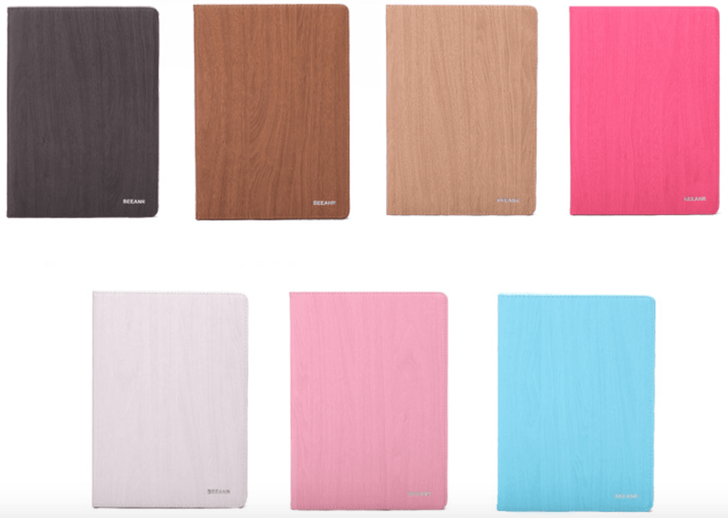 Wood Grain PU iPad Case,Intelligent wake up and sleep, 7 colors to choose. ipad002 - We Love Apple