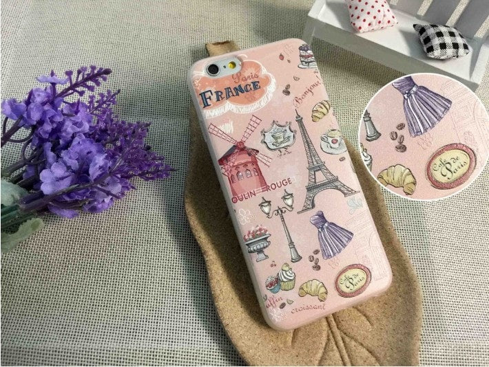 3D Relief Color Painting iPhone Case, France & England , CA026-10