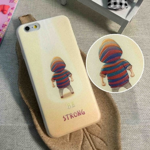 3D Relief Color Painting iPhone Case, Boy & Girl , CA026-13