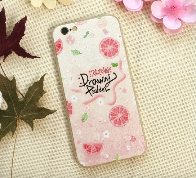 3D Relief Color Painting iPhone Case,Summer Fruit, CA026-14