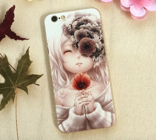 3D Relief Color Painting iPhone Case, Girl, CA026-22