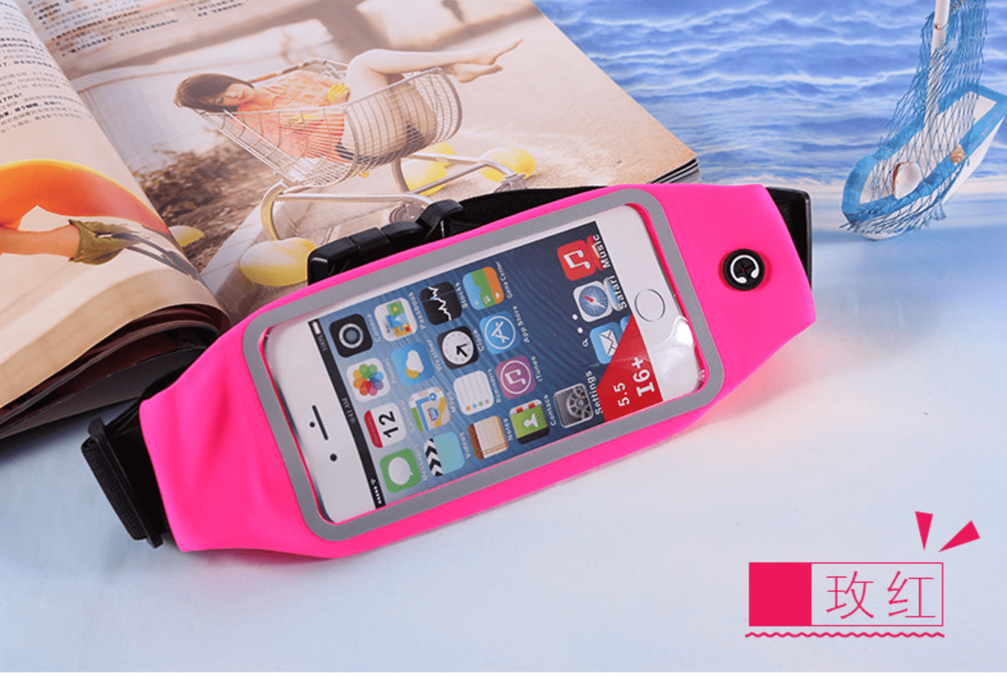 Waterproof reflective waist sport belt for iPhone, CA034 - We Love Apple