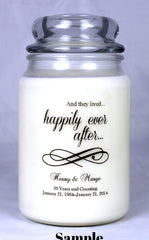 Customizable Anniversary Candle (3)