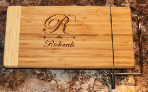 Personalized Cheese Cutter Board