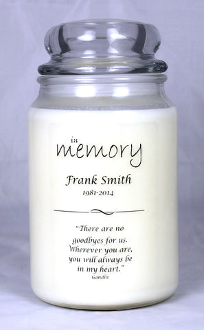 In Memory Candle Template 4