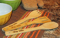 Personalized Bamboo Utencil Set