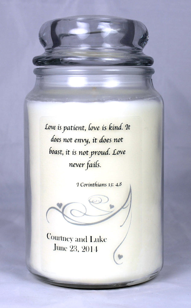 Customizable Wedding Candle (3)