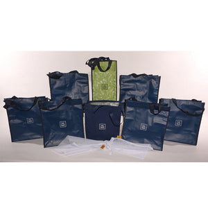 HC Floral 10 Piece Grocery Bag Organizer