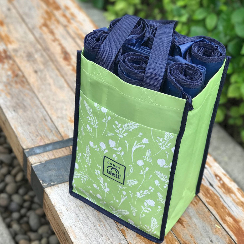 Floral 10 Piece Grocery Bag Organizer
