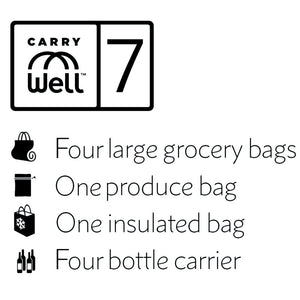 Camo 7 Piece Reusable Grocery Bag Organizer