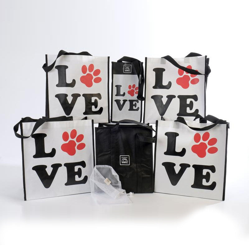 Puppy Love 7 Piece Reusable Grocery Bag Organizer