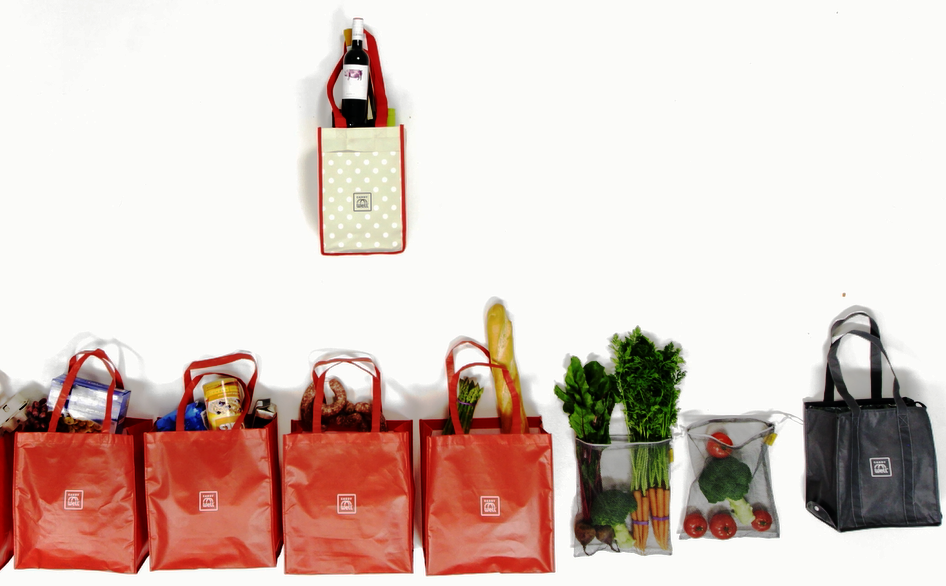 Lots of Dots 7 Piece Grocery Bag Organizer