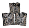 Package of 3 Leopard Grocery Bags
