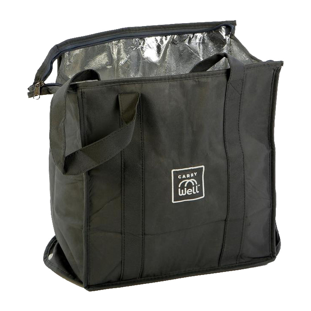 Insulated Gray Reusable Freezer Bag