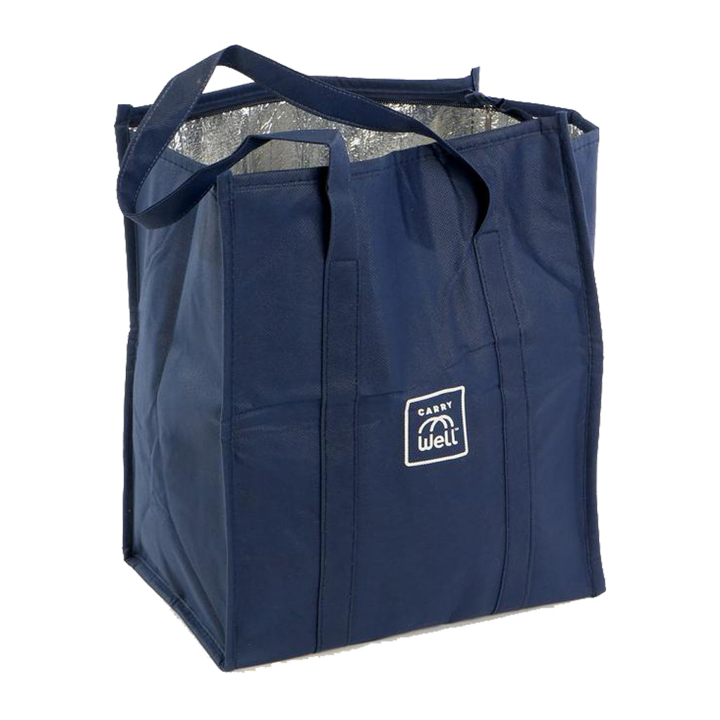 Insulated Navy Blue Reusable Freezer Bag