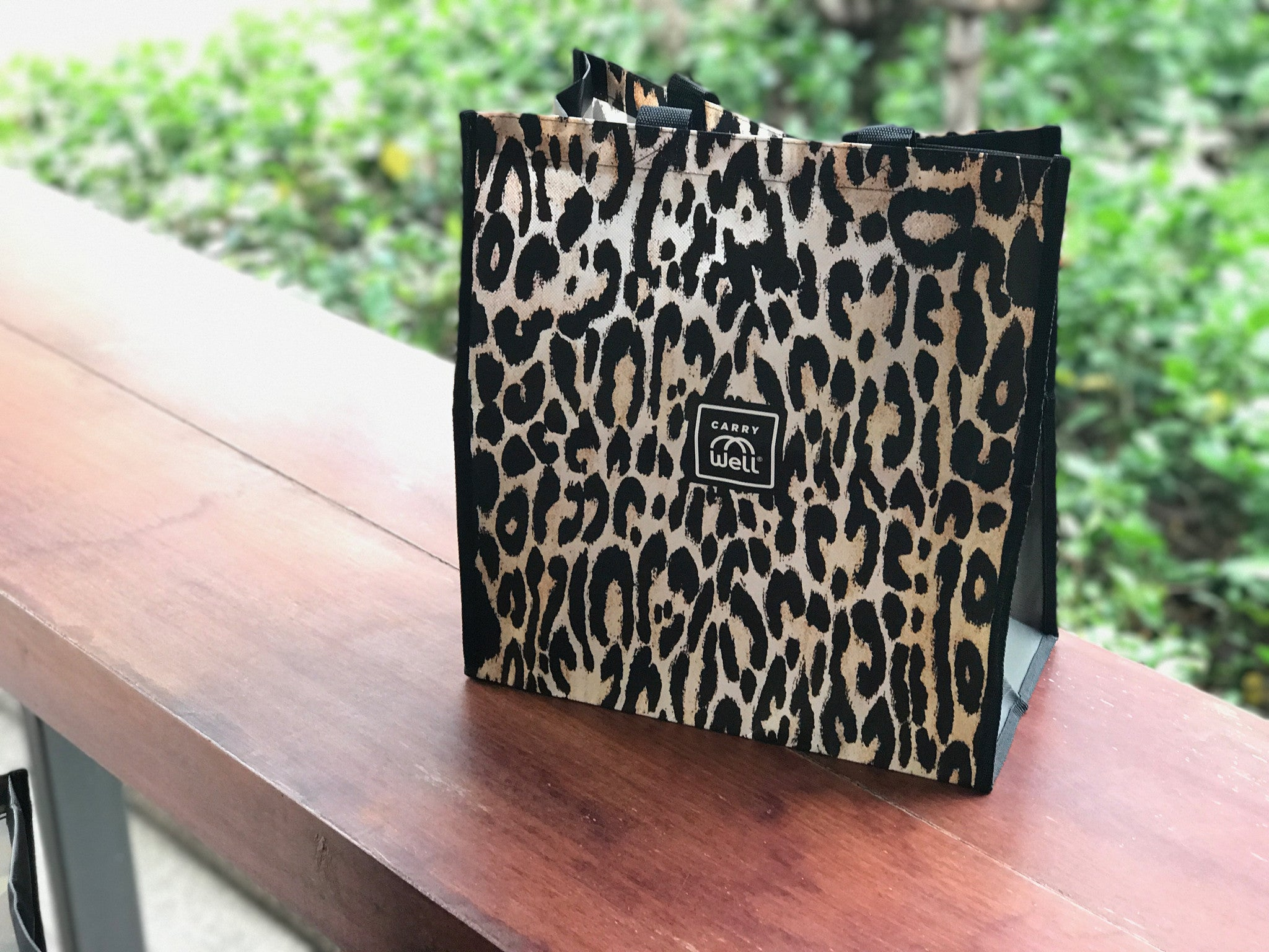 Package of 3 Leopard Print Reusable Grocery Bags