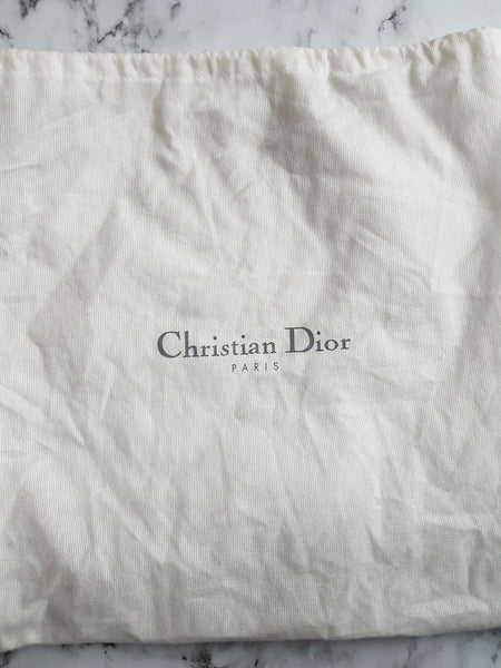 Dior D-Trick Black Canvas and Leather Bag