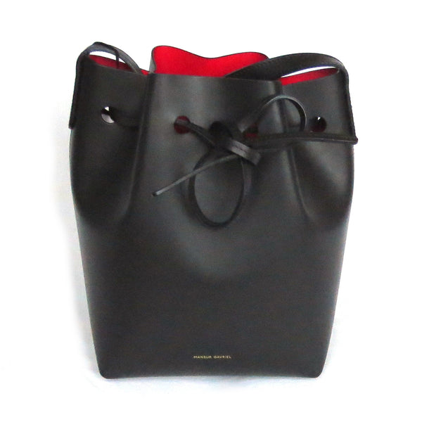 Mansur Gavriel Mini Bucket Bag Red Interior