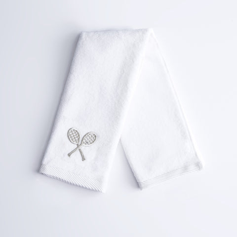 Mini Metallic Crossed Racket Socks
