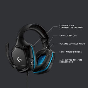 Logitech G432 7.1 Surround Sound Gaming 7.1 Headphone