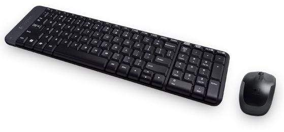 Logitech MK220 Wireless En-Ar Keyboard and Mouse - Black
