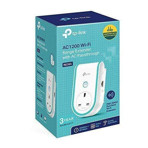 TP-Link RE365 AC1200 WiFi Range Extender with AC Passthrough