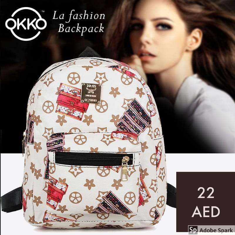 Okko la fashion backpack - White