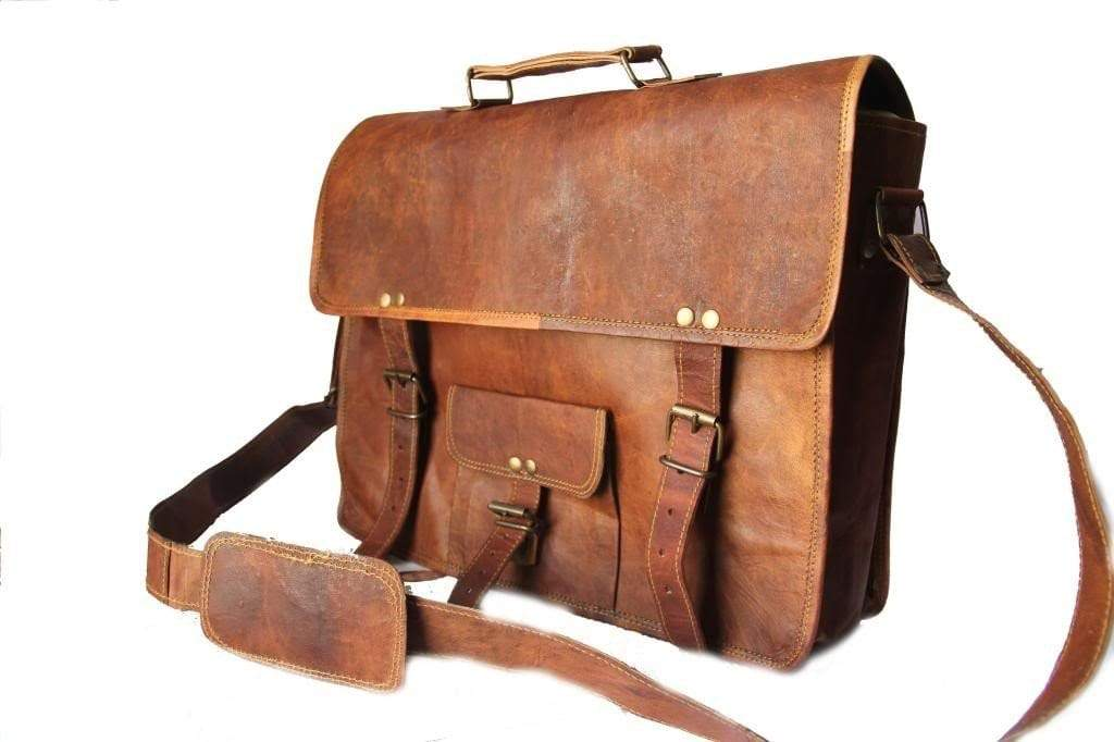 15' inch Leather Laptop Bag