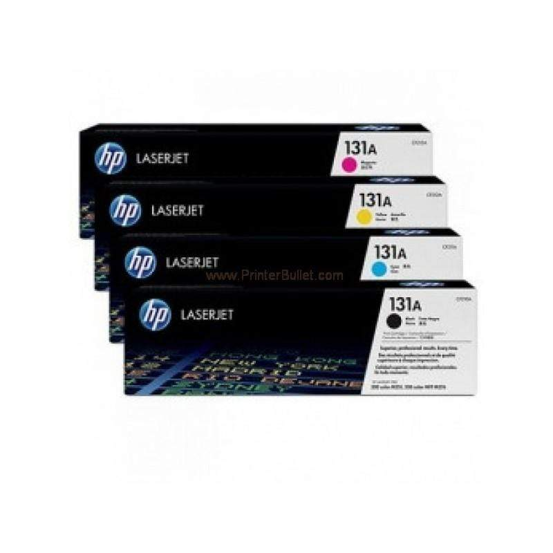 HP 131A Laserjet Toner Cartridge, Multicolor [131A-CMYK]