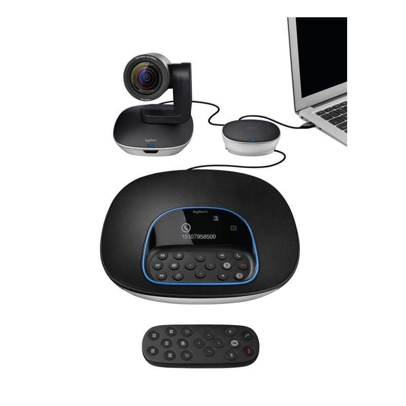 Logitech Group Video Conferencing Bundle with Expansion Mics HD 1080p Camera Speakerphone-960-001057,989-000171