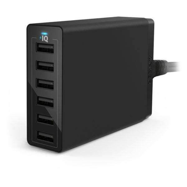Anker Powerport QC60W 6 Port Wall Adapter Black – A2123K12