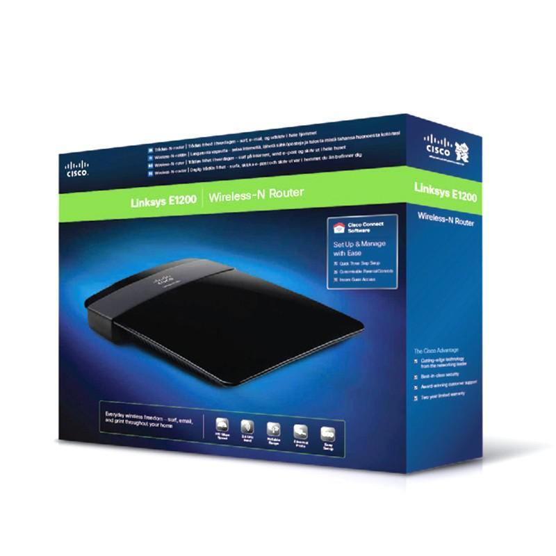 Cisco Linksys E1200 5 x Fast Ethernet 10//100 mb//s Managed Wireless-N Router