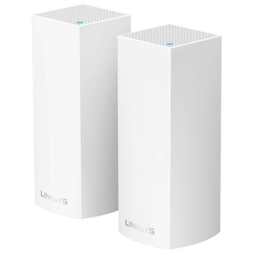 Linksys Velop Whole Home WiFi Mesh System Tri-band AC4400 2 Pack