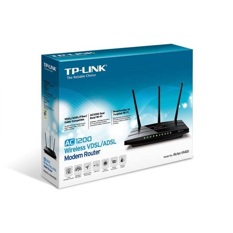 TP-Link Archer VR400 AC1200 Wireless Modem Router