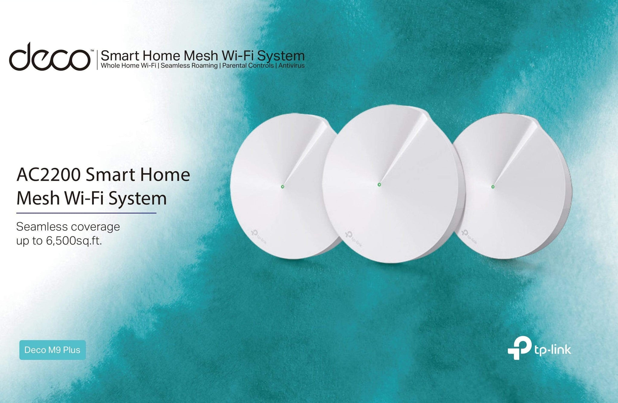 TP-LINK Deco M9 Plus Smart Home Mesh Wi-Fi System 3 Pack