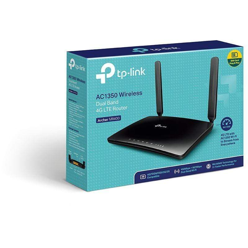TP Link MR400 AC1350 Wireless Dual Band 4G LTE Router