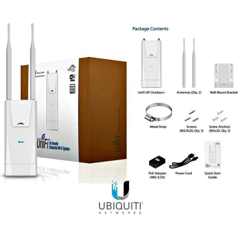 Ubiquiti UniFI AP Outdoor+ Wi-Fi ,2.4 GHz speed,Upto 300 Mbps