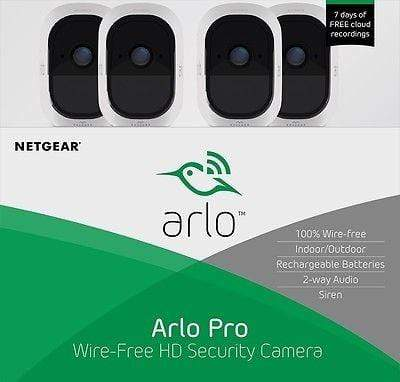 Arlo Pro 2 Smart Security System with 4 Cameras (VMS4430)