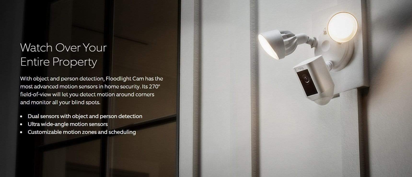 Ring Floodlight HD Security Camera Motion-White