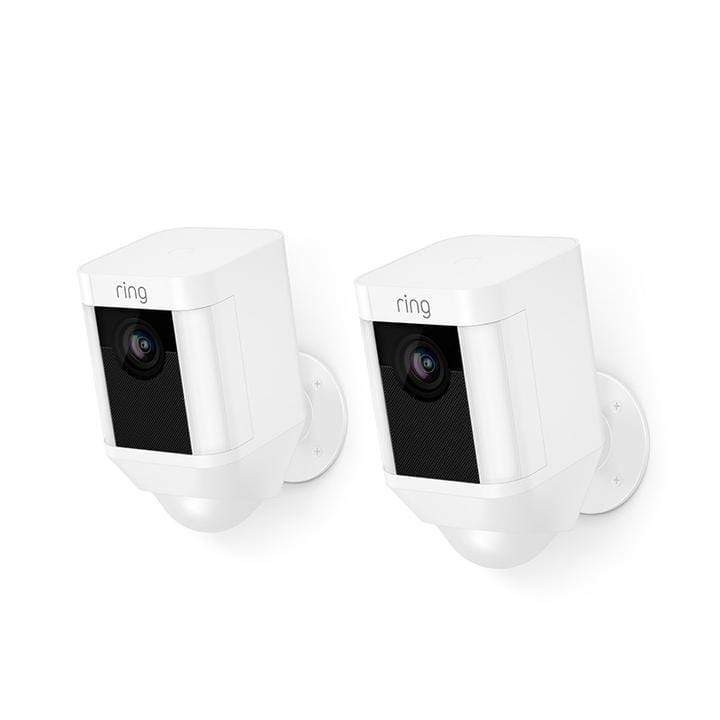 Ring Spotlight Cam Battery HD Security Camera- 2 Pack (White)
