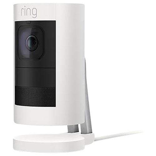 Ring Stick Up Cam wired with two-way talk, night vision, a siren