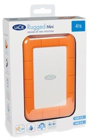 LaCie 4 TB Rugged Mini USB 3.0 External Hard Disk Drive - 9000633