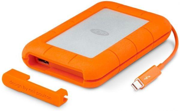 LaCie Rugged 1 TB USB 3.0 & Thunderbolt Series External HDD Hard Drive Designed by Neil Poulton