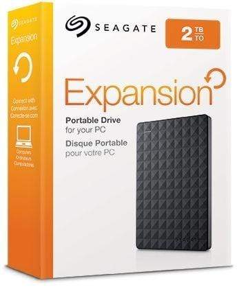 Seagate 2TB Expansion Portable Hard Drive, Black - STEA2000400