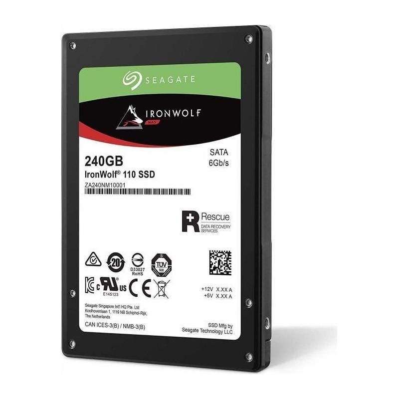 Seagate IronWolf 110 SSD is built for NAS with capacities 240GB to 3.84TB