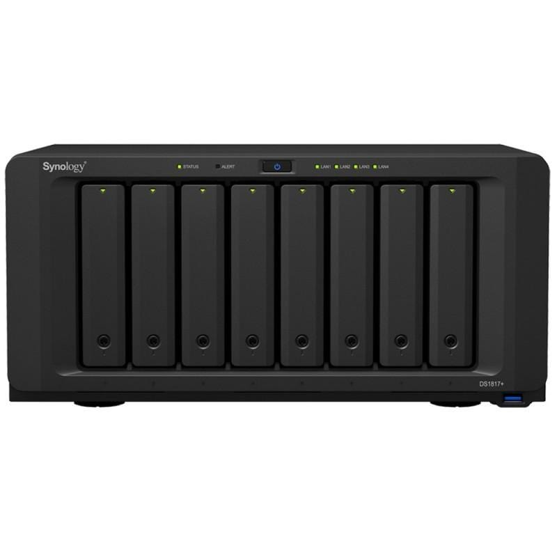 Synology DiskStation DS1817+(2G) 8 Bay Diskless NAS - Atom Quad Core CPU 2GB RAM