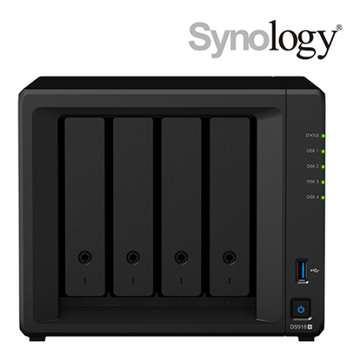 Synology DiskStation DS918+ Powerful and scalable 4-bay NAS